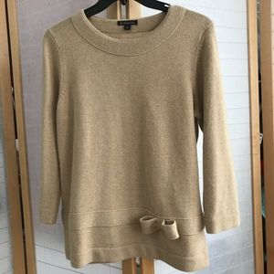 Brooks Brothes 100% lambs wool sweater with bow